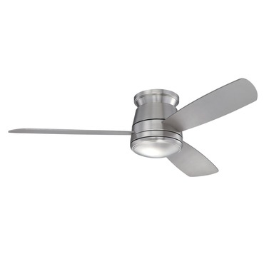 Polaris Hugger Ceiling Fan with Light by Savoy House | 52-417H-3SV-SN