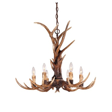 Blue Ridge Antler Chandelier by Savoy House | 1-40017-6-56