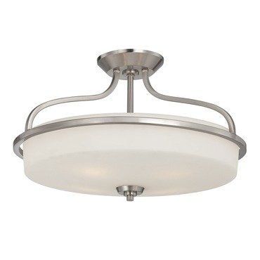 Charlton Semi Flush Mount by Savoy House | 6-6225-4-SN