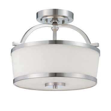 Hagen Semi Flush Ceiling Light by Savoy House | 6-4382-2-SN