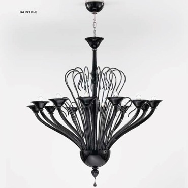 One Tier 1461 Chandelier by Lightology Collection | LC-1461/12-K-NE
