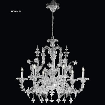 One Tier 1471 Chandelier by Lightology Collection | LC-1471/6-PA-CR