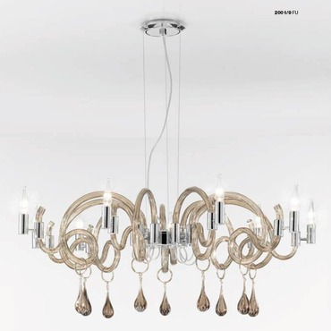One Tier 2001 Chandelier by Lightology Collection | LC-2001/9-K-FU