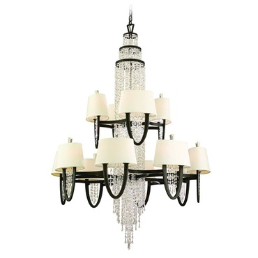 Viceroy 2-Tier Chandelier by Corbett Lighting | 130-024