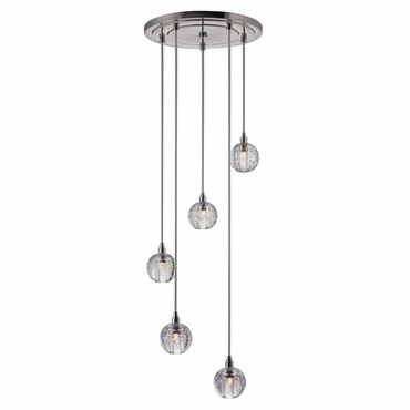 Naples 001 5 Light Pendant by Hudson Valley Lighting | 3615-SN-S-001