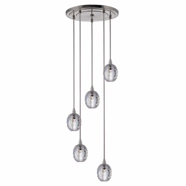 Naples 002 5 Light Pendant by Hudson Valley Lighting | 3615-SN-S-002
