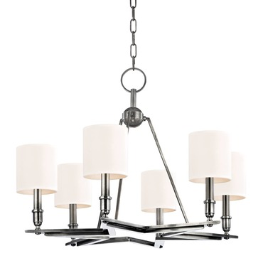 Bethesda Chandelier by Hudson Valley Lighting | 4086-AS-WS