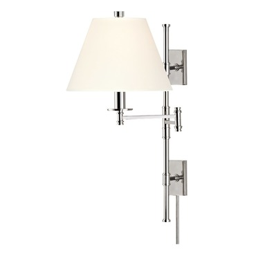 Claremont Swing Arm Wall Sconce by Hudson Valley Lighting | 7731-PN-WS