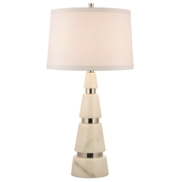 Modena Marble Table Lamp by Hudson Valley Lighting | L789-PN-WS