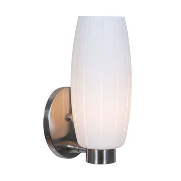 Pearl Wall Sconce by Access | 23970-BS/WHT