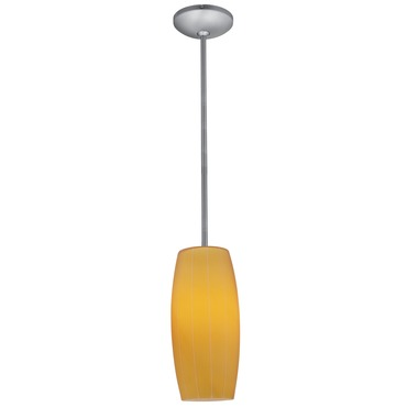 Cognac Rod Pendant by Access | 28070-2R-ORB/AMB