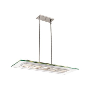 Aquarius Linear Pendant by Access | 50110-BS/CLR