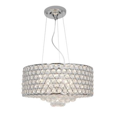 Kristal Crystal Drum Pendant by Access | 51004-CH/CCL