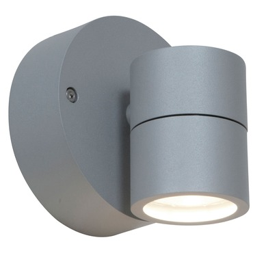KO 50 Spotlight Outdoor Wall Sconce by Access | 20350MG-SAT/CLR