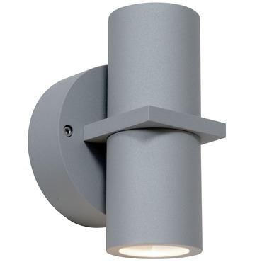 KO 52 Dual Spot Outdoor Wall Light by Access | 20352MG-SAT/CLR