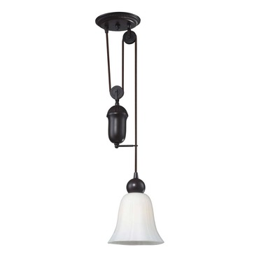 Farmhouse Glass Shade Pendant by Elk Lighting | 65090-1