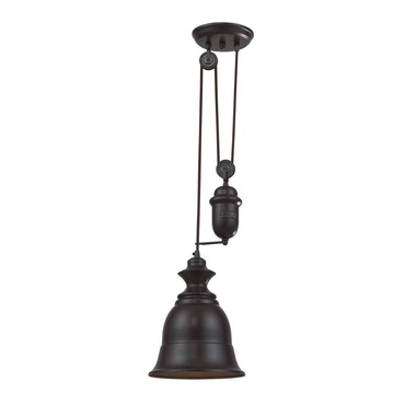 Farmhouse Metal Shade Pendant