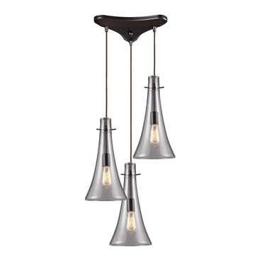 Menlow Park 60045-3 3-Light Cluster Pendant by Elk Lighting | 60045-3