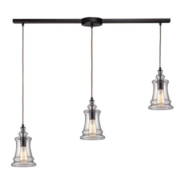Menlow Park 60042-3L 3-Light Linear Pendant