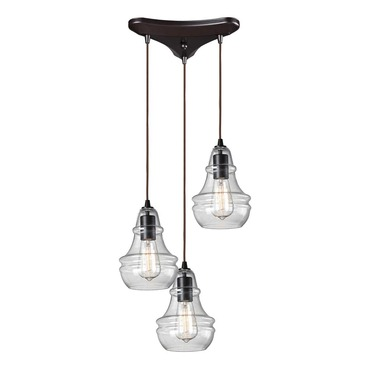 Menlow Park 60047-3 3-Light Cluster Pendant by Elk Lighting | 60047-3