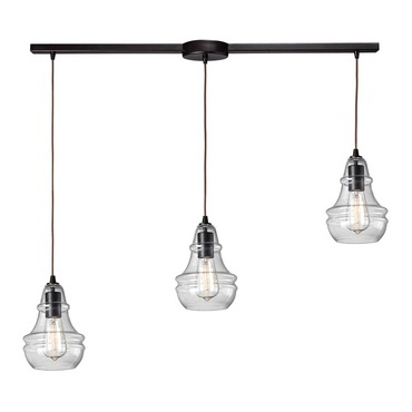 Menlow Park 60047-3L 3-Light Linear Pendant