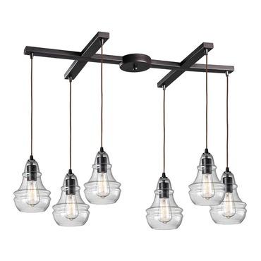 Menlow Park 60047-6 6-Light Pendant by Elk Lighting | 60047-6