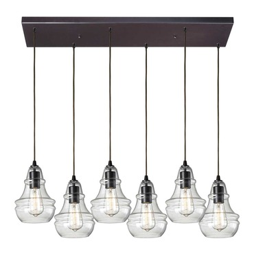 Menlow Park 60047-6RC 6-Light Linear Pendant by Elk Lighting | 60047-6RC