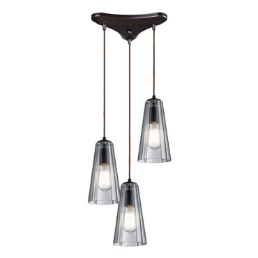 Menlow Park 60048-3 3-Light Cluster Pendant by Elk Lighting | 60048-3