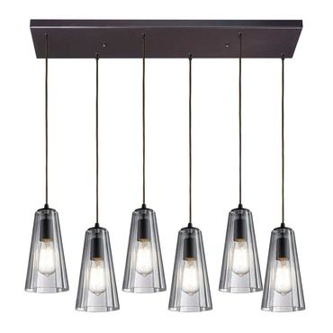 Menlow Park 60048-6RC 6-Light Linear Pendant by Elk Lighting | 60048-6RC