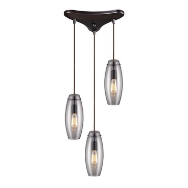 Menlow Park 60044-3 3-Light Cluster Pendant by Elk Lighting | 60044-3