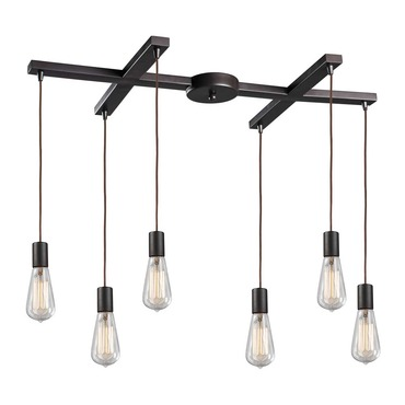 Menlow Park 60046-6 6-Light Pendant by Elk Lighting | 60046-6