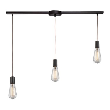 Menlow Park 60046-3L 3-Light Linear Pendant by Elk Lighting | 60046-3L