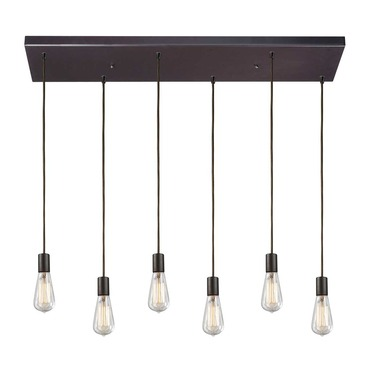 Menlow Park 60046-6RC Linear 6-Light Pendant