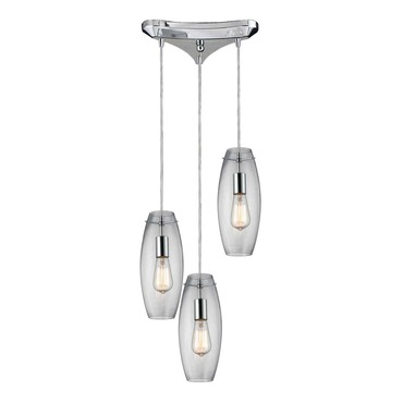 Menlow Park 60054-3 3-Light Cluster Pendant by Elk Lighting | 60054-3