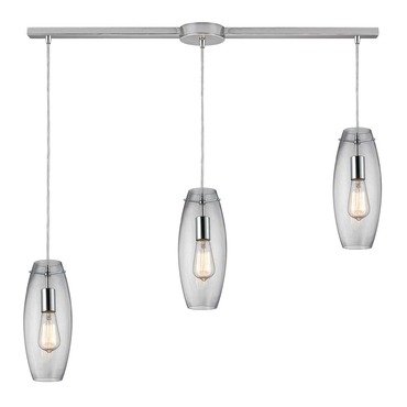 Menlow Park 60054-3L 3-Light Linear Pendant