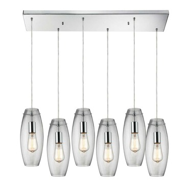 Menlow Park 60054-6RC Linear 6-Light Pendant by Elk Lighting | 60054-6RC