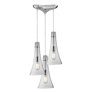 Menlow Park 60055-3 3-Light Cluster Pendant by Elk Lighting | 60055-3