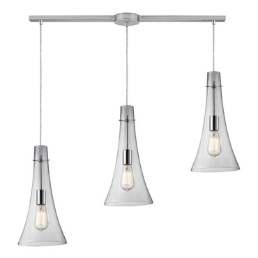 Menlow Park 60055-3L 3-Light Linear Pendant by Elk Lighting | 60055-3L