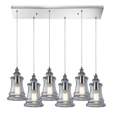 Menlow Park 60052-6RC 6-Light Linear Pendant by Elk Lighting | 60052-6RC