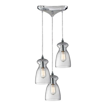 Menlow Park 60053-3 3-Light Cluster Pendant by Elk Lighting | 60053-3