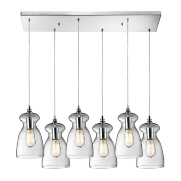 Menlow Park 60053-6RC 6-Light Linear Pendant