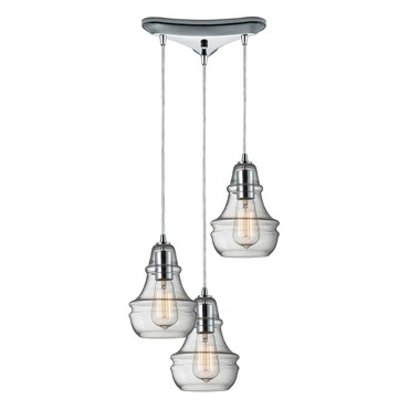 Menlow Park 60057-3 3-Light Cluster Pendant by Elk Lighting | 60057-3
