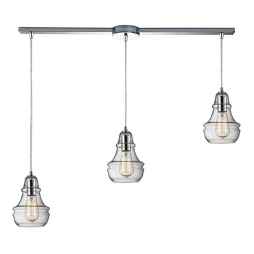 Menlow Park 60057-3 3-Light Linear  Pendant