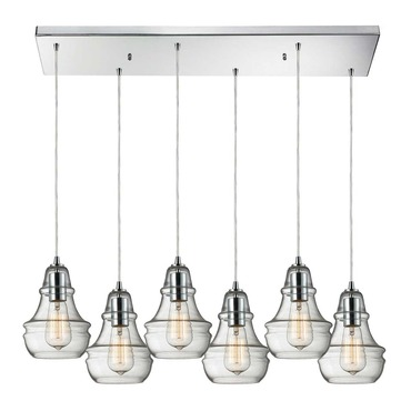 Menlow Park 60057-6RC 6-Light Linear Pendant by Elk Lighting | 60057-6RC