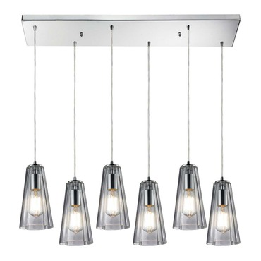 Menlow Park 60058-6RC 6-Light Linear Pendant by Elk Lighting | 60058-6RC