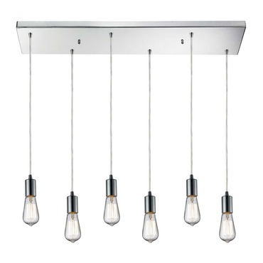Menlow Park 60056-6RC 6-Light Linear Pendant