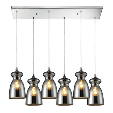 Menlow Park 60063-6RC 6-Light Linear Pendant by Elk Lighting | 60063-6RC