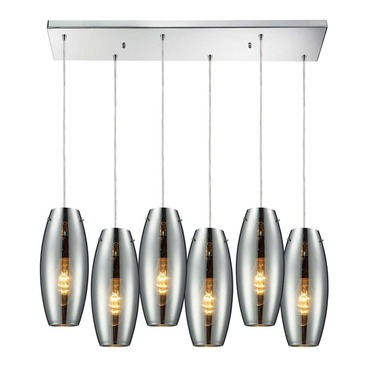 Menlow Park 60064-6RC 6-Light Linear Pendant by Elk Lighting | 60064-6RC