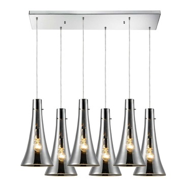 Menlow Park 60065-6RC 6-Light Linear Pendant