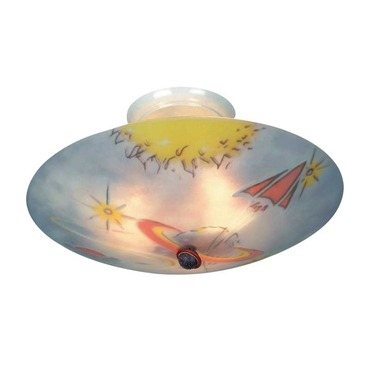 Kidshine Galactic Explorer Semi Flush Ceiling